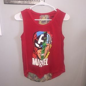 Marvel red tank top